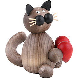 Cat Karli with Heart  -  8cm / 3.1 inch