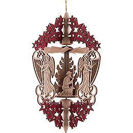 Christbaumschmuck Christi Geburt  -  rot  -  15,3cm
