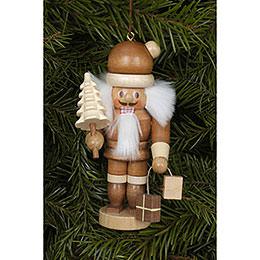 Christbaumschmuck Weihnachtsmann natur  -  10cm