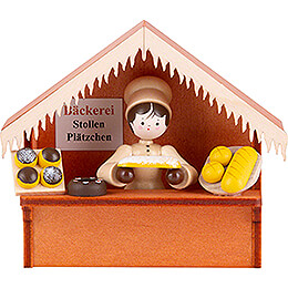 Christmas Market Stall Bakery with Thiel Figurine  -  8cm / 3.1 inch