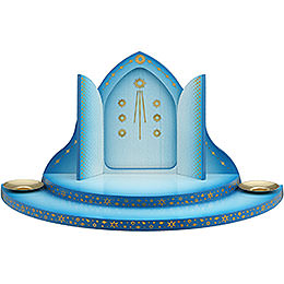 Cloud with Heaven's Gate 2 - Tier Blue - White  -  27cm / 10.6 inch
