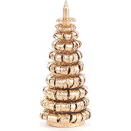 Coiled Tree without Trunk  -  Golden  -  4cm / 1.6 inch