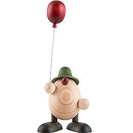 Eierkopf Otto mit Luftballon, grün  -  11cm