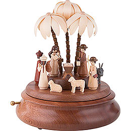 Electronic Music Box  -  Nativity  -  23cm / 9 inch