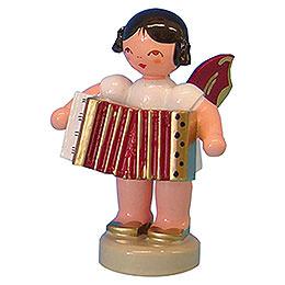 Engel mit Akkordeon  -  Rote Flügel  -  stehend  -  6cm