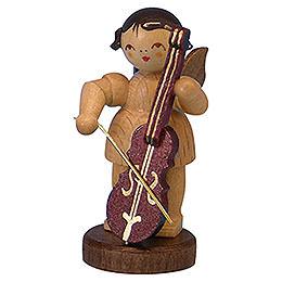 Engel mit Cello  -  natur  -  stehend  -  6cm
