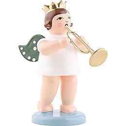 Engel mit Krone und Jazztrompete  -  6,5cm