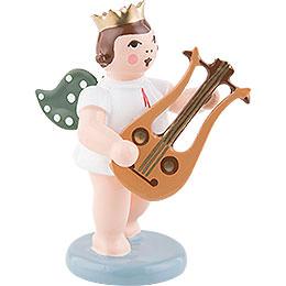 Engel mit Krone und Lyragitarre  -  6,5cm