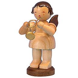 Engel mit Trompete  -  natur  -  stehend  -  9,5cm