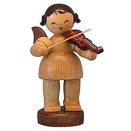 Engel mit Violine  -  natur  -  stehend  -  6cm