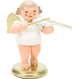 Engel weiß/gold mit Geige  -  6,0cm