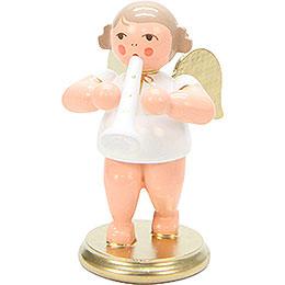 Engel weiß/gold mit Klarinette  -  6,0cm