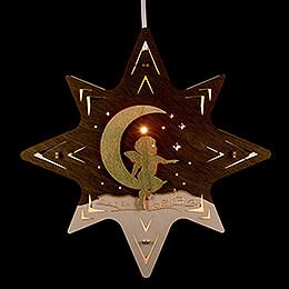 """Fensterbild Stern """"Engel auf Mond""""  -  30cm"""