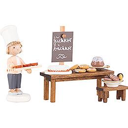 Flachshaarkinder Zuckerbäckerei  -  5cm
