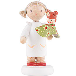 Flax Haired Children Girl with Judy  -  5cm / 2 inch