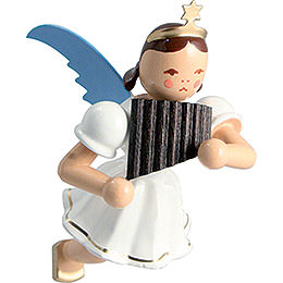Floating Angel Colored, Pan Pipe  -  6,6cm / 2.6 inch
