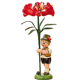 Flower Child Boy with Amaryllis  -  11cm / 4,3 inch