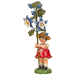 Flower Child Girl with Columbine  -  17cm / 7 inch