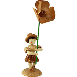 Flower Child with Field Poppy  -  Natural  -  12cm / 4.7 inch