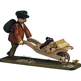 Forester with Handcart  -  7cm / 2.8 inch