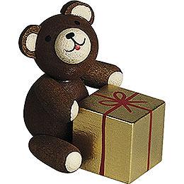 Glücksbärchen mit Geschenk  -  2,7cm