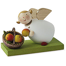 Guardian Angel with Apple Basket  -  3,5cm / 1.3 inch