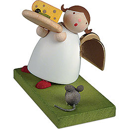 Guardian Angel with Cheese Plate  -  3,5cm / 1.3 inch