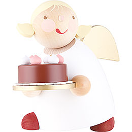 Guardian Angel with Fancy Cake  -  16cm / 6.3 inch