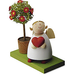 Guardian Angel with Heart and Little Tree  -  3,5cm / 1.3 inch