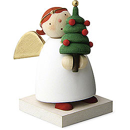 Guardian Angel with Little Christmas Tree  -  3,5cm / 1.3 inch
