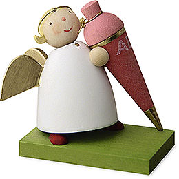Guardian Angel with School Cone  -  Girl  -  3,5cm / 1.3 inch