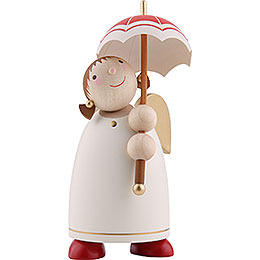 Guardian Angel with Umbrella, Beige  -  8cm / 3.1 inch
