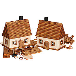 Handicraft Set Ore Mountain Cabin, 2 pcs.  -  6cm / 2.4 inch