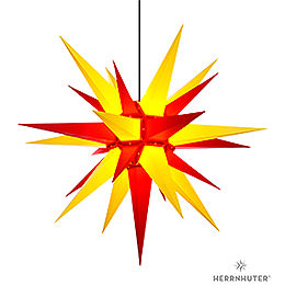 Herrnhuter Moravian Star A13 Yellow/Red Plastic  -  130cm/51 inch
