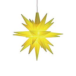 Herrnhuter Moravian Star A1e Lemon Plastic, Special Edition 2019  -  13cm / 5.1 inch