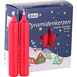High Quality Pyramid - Candles Red  -  D=1.7cm (0.66 Inch)