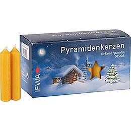 Hochwertige Pyramidenkerzen honigfarben  -  1,4cm Durchmesser