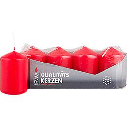 Hochwertige Stumpenkerzen rot  -  3,8cm Durchmesser