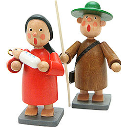 Holy Family 2 pcs.  -  7,0cm / 3 inch