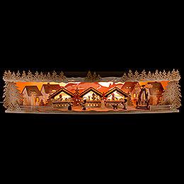 Illuminated Stand Christmas Market  -  75x20x15cm / 29.5x7.9x5.9 inch