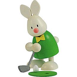 Kaninchen Max beim Golf  -  Einlochen  -  9cm