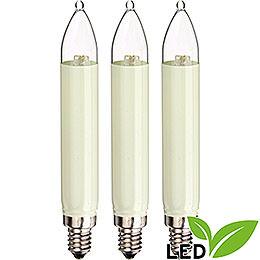 LED Small Shaft Bulb  -  E10 Socket  -  Warm White  -  0.1 - 0.3W