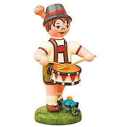 Lampion Child Boy with Drum  -  8cm / 3 inch