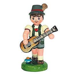Lampion Child Boy with Guitar  -  8cm / 3 inch
