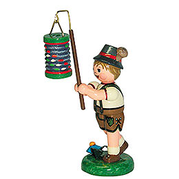 Lampion Child Boy with Lantern  -  8cm / 3 inch