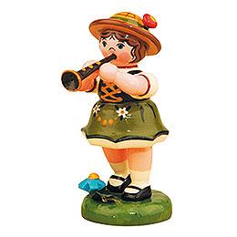 Lampionkind Mädchen mit Klarinette  -  8cm