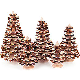 Layered Trees  -  Conifers Natural  -  5 pieces  -  8cm / 3.1 inch