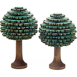 Layered Trees  -  Leaf Trees Green  -  2 pieces  -  10cm / 3.9 inch