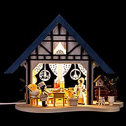 Lichterfachwerkhaus Backstübchen  -  17cm