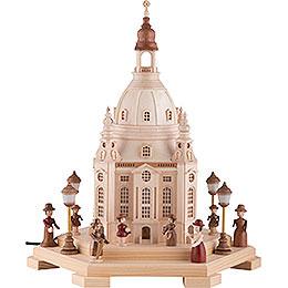 Lichterhaus Frauenkirche Dresden 230V  -  24x21x28cm